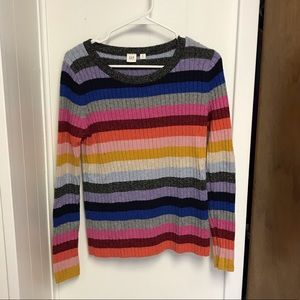Rainbow Stripped Gap Sweater Size M